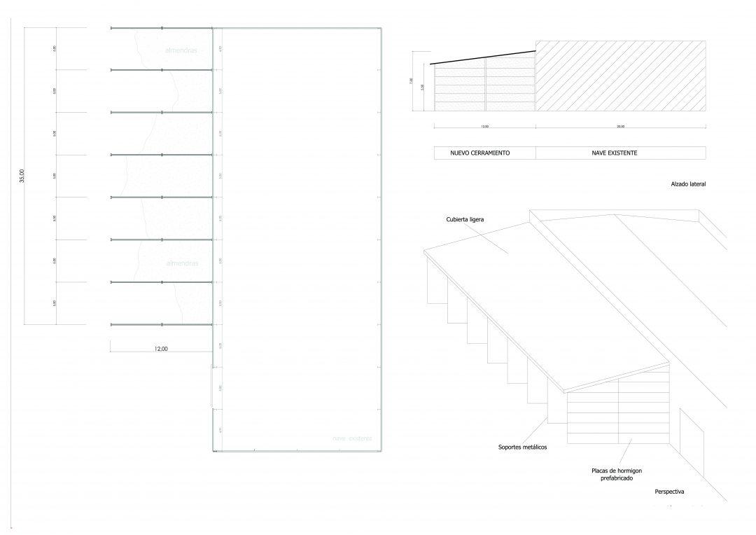 Proyecto adecuación nave industrial en Albox