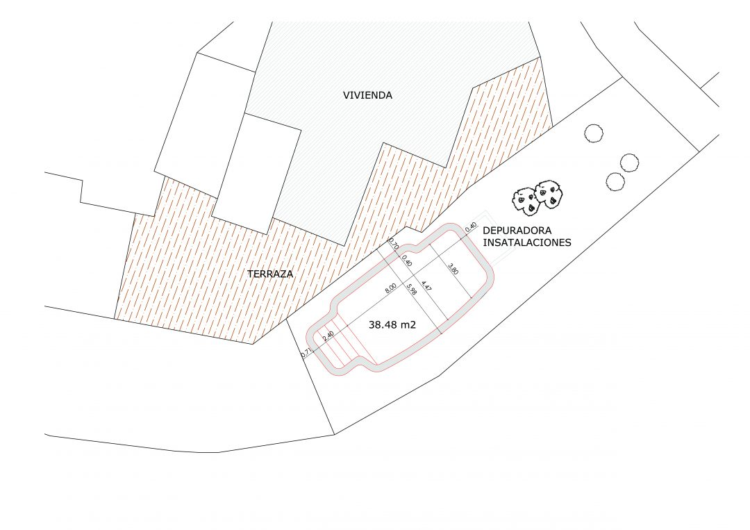Proyecto de piscina en Bedar