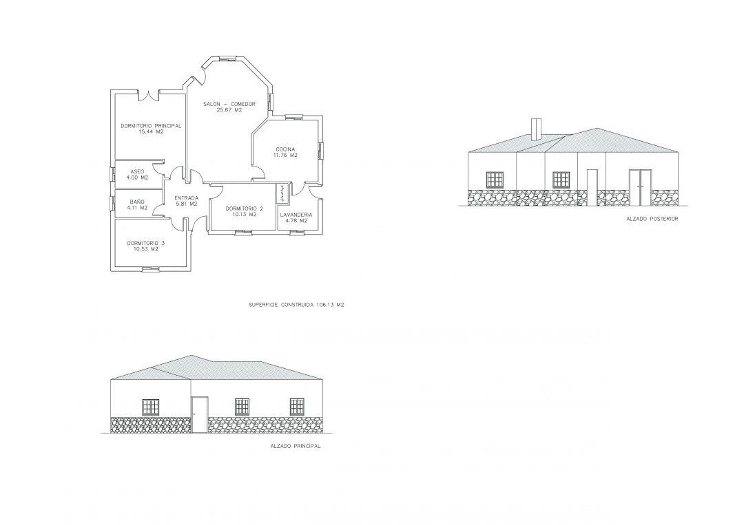 Proyecto obra nueva vivienda unifamiliar, Zurgena