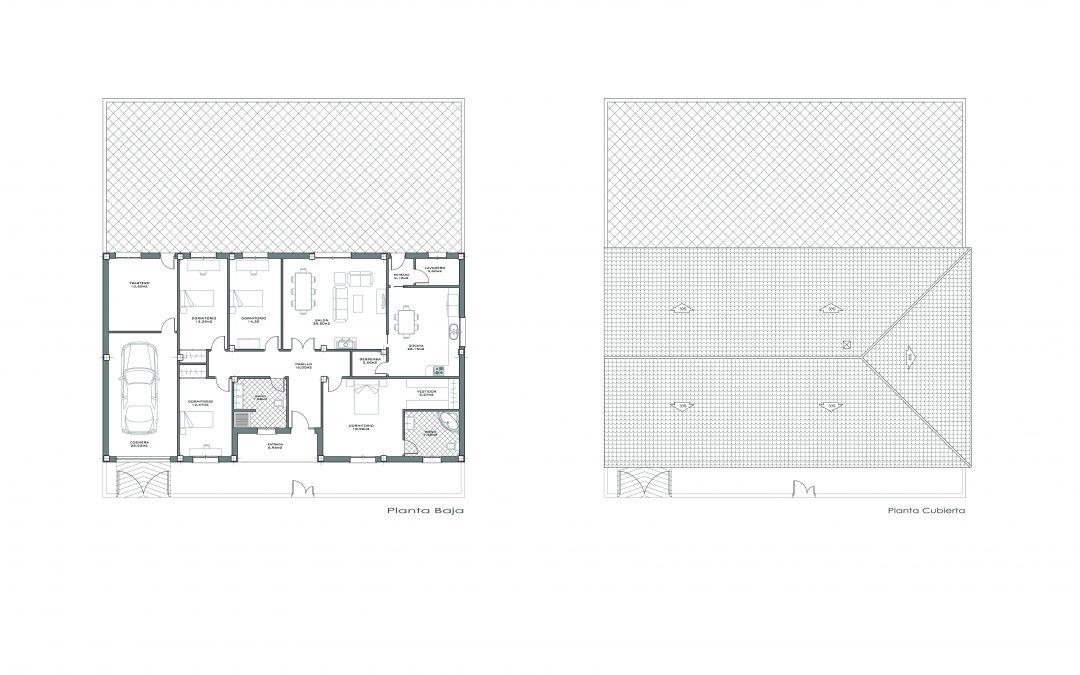 Proyecto vivienda nueva adosada en Granada